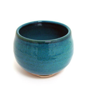 Incense Bowl-Glazed Ceramic-Ocean Blue