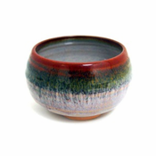Incense Bowl:Glazed Ceramic-Rust Rim