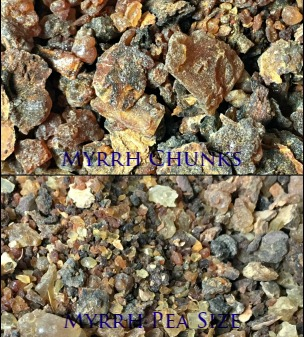 Myrrh Gum Resin , Chunks or Pea sized(Commiphora myrrha) - Somalia-Organic