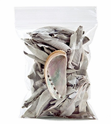 White Sage Leaves & Mini Abalone Shell Set