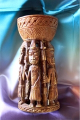 African Art  Sculpture Owo Yoruba Cup Reproduction