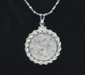 "Anorthosite ""Moon"" Pendant Sterling Silver"