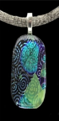 Crop Circles Dichroic Glass Pendant