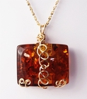 Exquisite Amber Jewelry 14k Gold