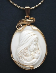 Exquisite Mother and Child Pendant Large