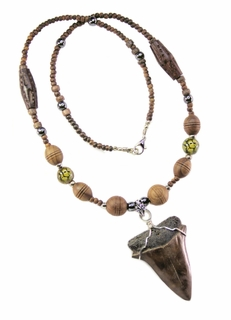 Stylish Game of Thrones Style Fossil Sharktooth Necklace