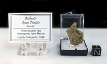 """Authentic Green Trinitite """"Classic"""" Atomic Glass NEW"""