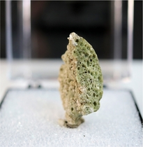 Authentic Green Trinitite with Minor Pearl Great Froth