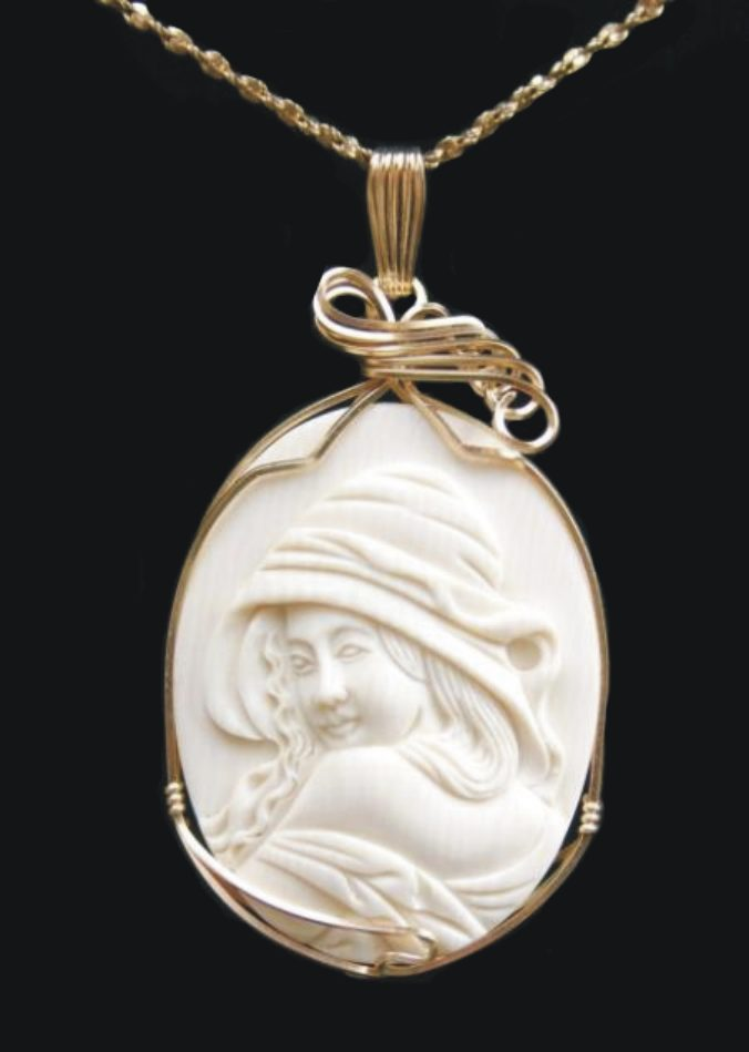 silver pendant with company bail mammoth trading boone ivory tone products