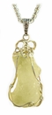 Libyan Desert Glass Jewelry Pendant Necklace Large