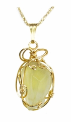 Authentic Libyan Desert Glass Jewelry 14k Gold