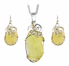 Authentic Libyan Desert Glass Jewelry Set
