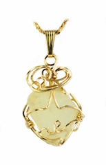 Libyan Desert Glass Jewelry 14k Gold - Sold!