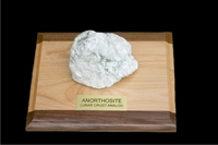 Lunar Anorthosite Display with Plaque