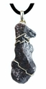 Authentic Meteorite Jewelry Pendant Necklace Sikhote-Alin for Men Stainless Steel