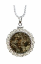 Meteorite Jewelry Necklace Pendant<p> Coin Mount