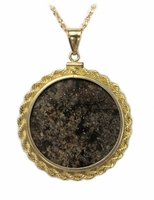 Meteorite Jewelry Pendant Necklace 14k Gold Large