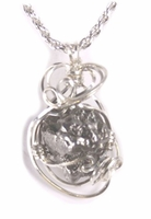 Authentic Meteorite Jewelry Pendant Necklace Sterling Silver Fancy