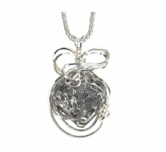 Authentic Meteorite Jewelry Pendant Necklace Stainless Steel