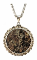 Meteorite Jewelry Pendant Necklace Coin Mount XL