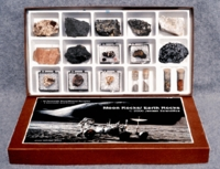 Moon Rocks Earth Rocks Collection with Soil Simulant
