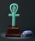 Shokugan Faience Amulet in the shape of an Ankh