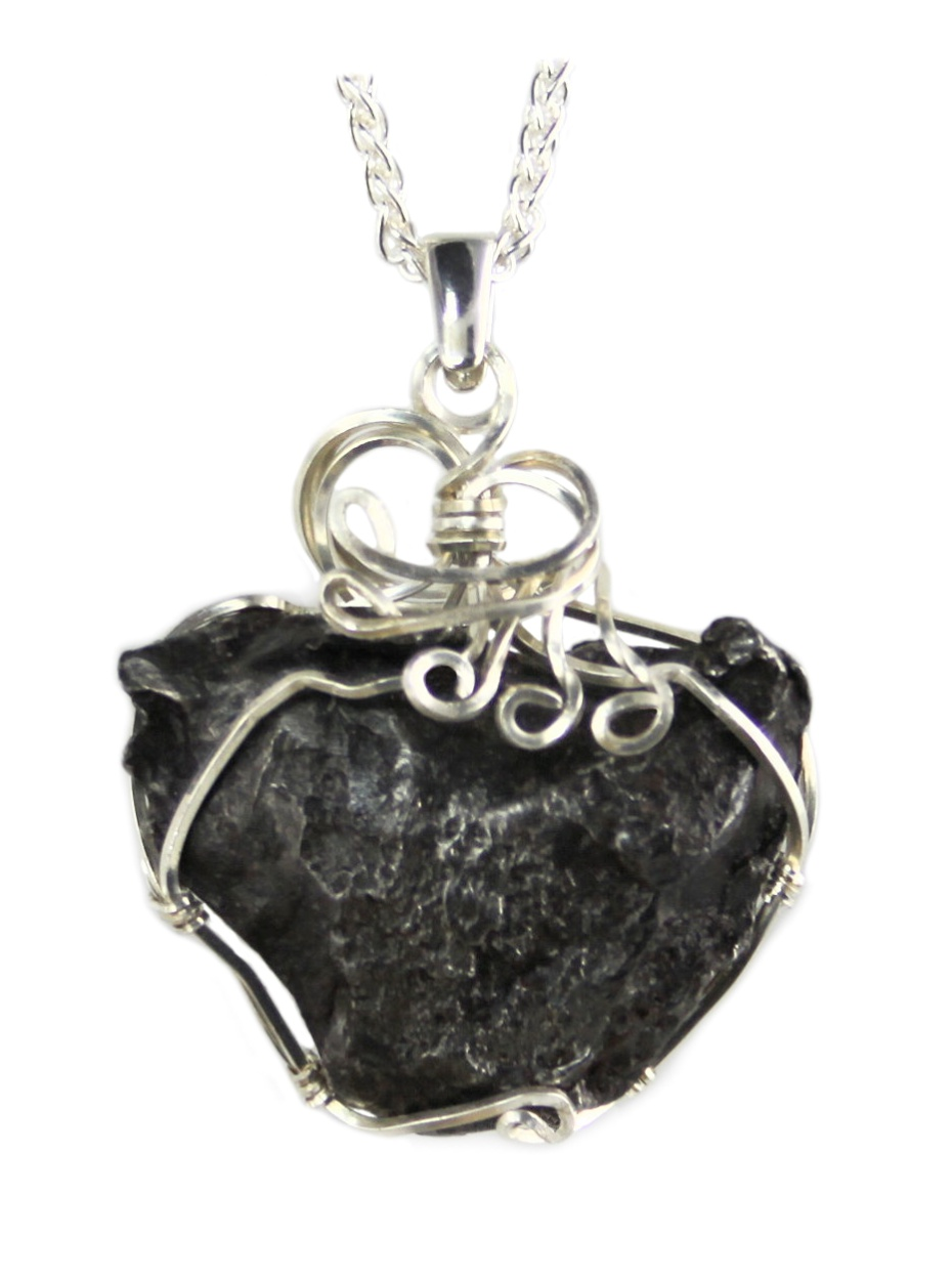 Authentic Sikhote Alin Meteorite Pendant Necklace Jewelry