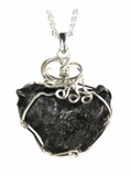 Sikhote-Alin Meteorite Jewelry, Heart Shaped, Sterling Silver