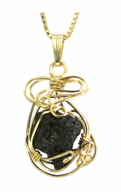 Authentic Titanic Coal 14K Gold Jewelry Pendant Necklace