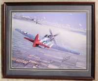Tuskegee Airmen Framed Aviation History with Autographs