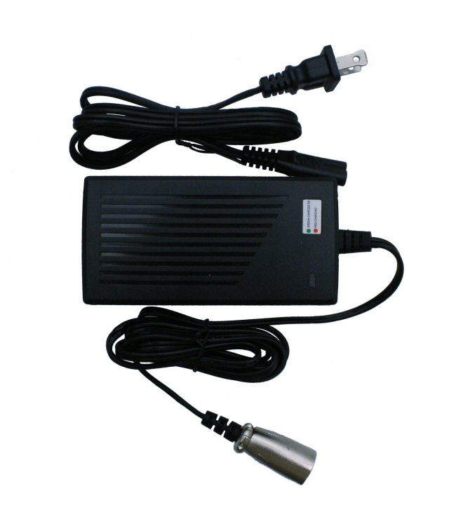 36V, 1.6Ah 4-Pin XLR Electric Scooter Charger on honda scooter battery, power scooter battery, honda atv 12v battery, 36 volt electric bike battery, electric scooter battery,