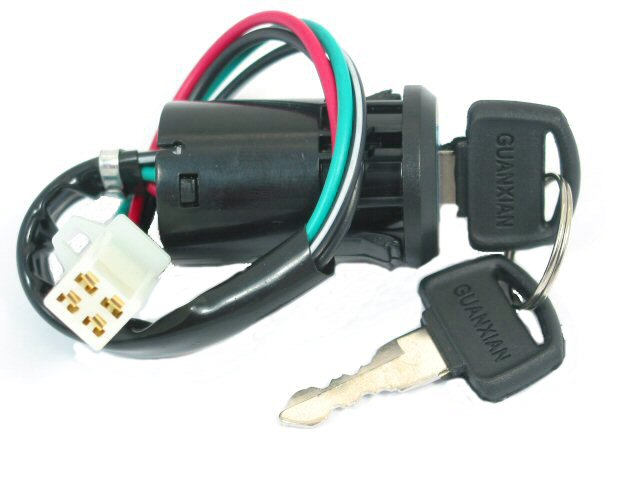 4 wire, keyed ignition switch