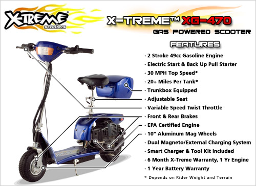49cc gas scooter x treme xg 470 epa certified 22 49cc gas scooter with electric start model 2010 xg 470 (epa  at creativeand.co