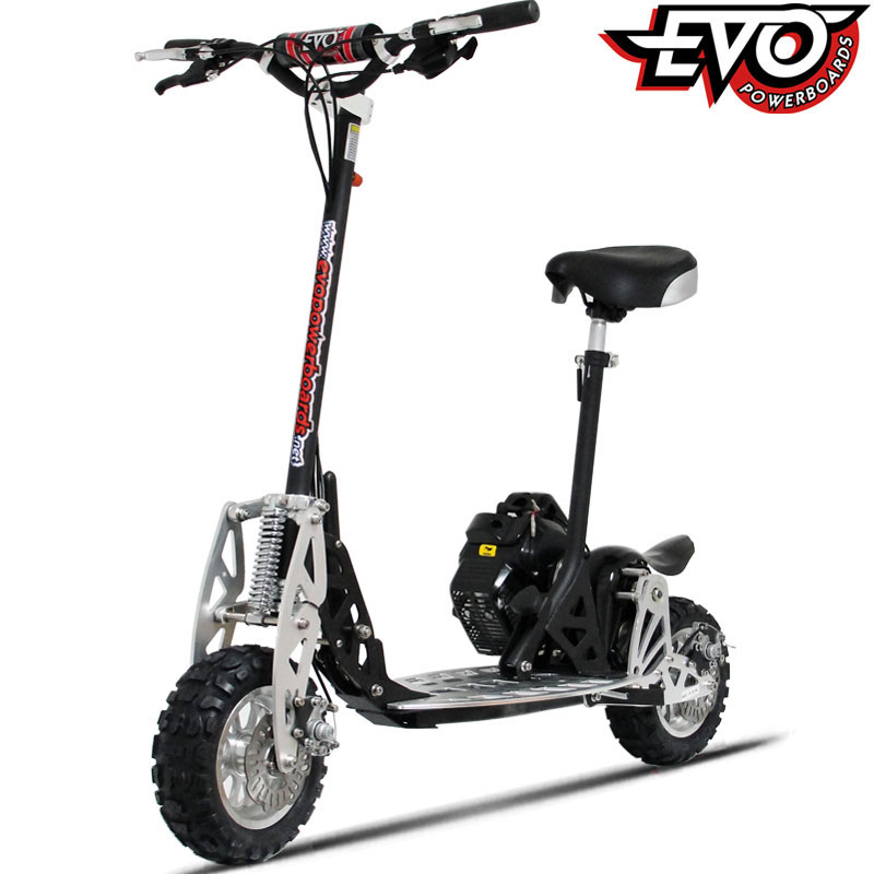 Uberscoot 2x evo 50cc gas powered scooter epa approved 2 for Gas powered motorized scooter