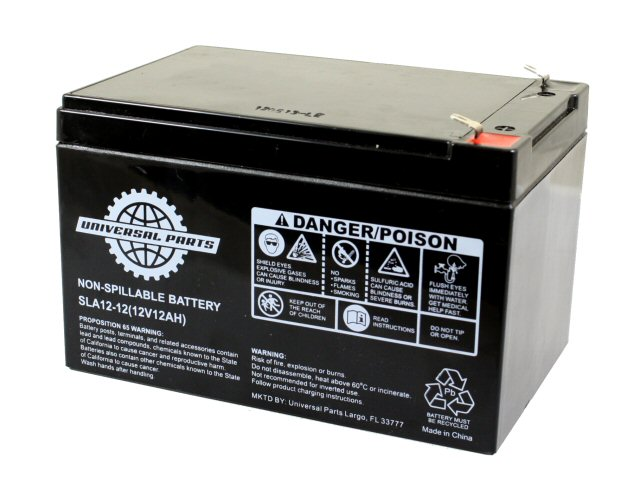 12 Volts 12amps Sla Rechargeable Electric Scooter Battery