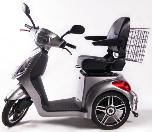 3 Wheel Electric Mobility Scooter 500 Watt 48 Volt EMS-36 W/Reverse