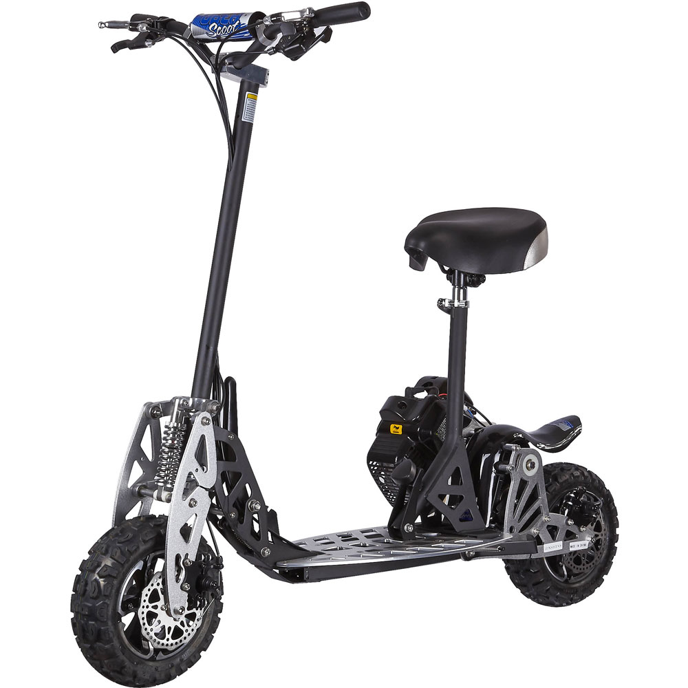 Uberscoot 2x Evo 50cc Gas Powered Scooter Epa Approved 2 Speed Engine Wire Diagram Panterra Retro By Powerboards Stroke