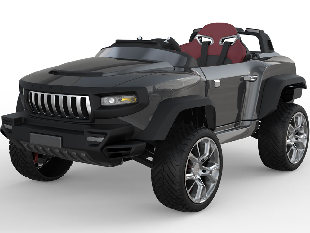 Kids Ride On Car Henes Broon T870 4x4 24 Volt With Tablet Remote Controlled
