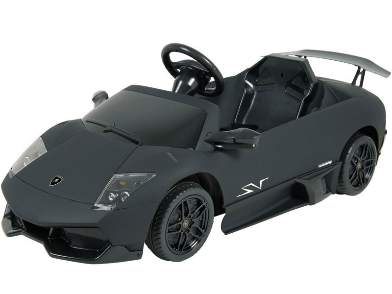 free shipping kalee lamborghini murcielago lp670 black 12 volt kids ride on sports car