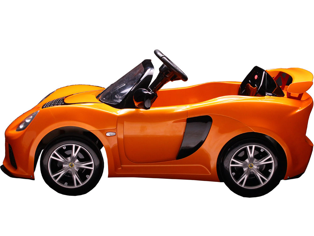 kalee lotus exige 12v kids ride on car in orange