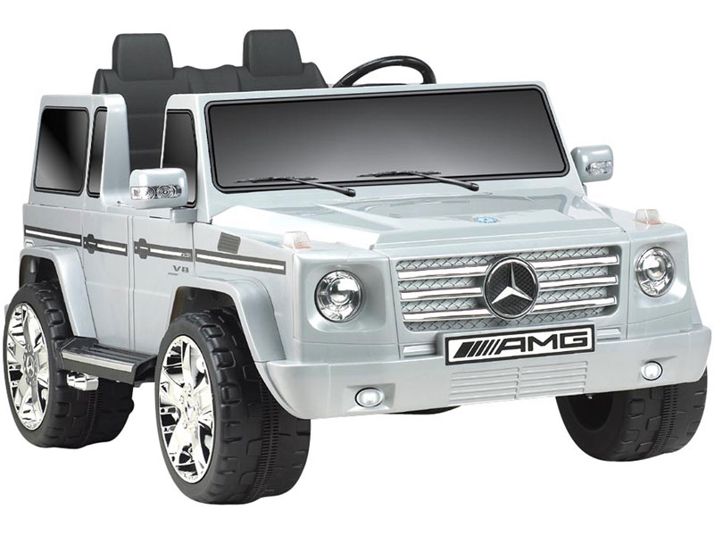 Mercedes benz g55 12v kids ride on truck 2 seater for Mercedes benz truck toys