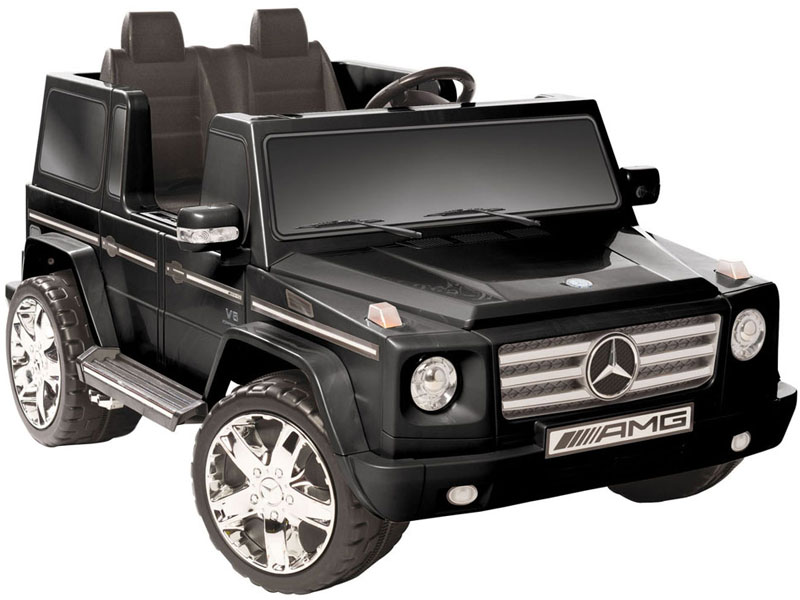 Mercedes benz g55 12v kids ride on truck 2 seater for Mercedes benz two seater