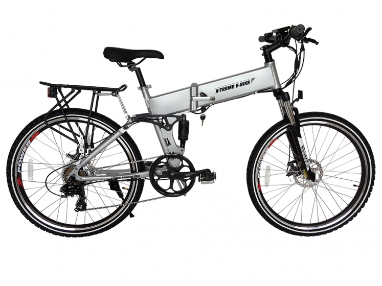 New Baja 36 Volt Lithium Powered Electric Folding Mountain Bicycle
