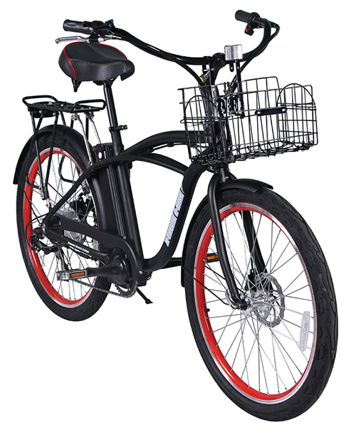 Newport Beach Cruiser Electric Bicycle Lithium Batteries 300 Watts