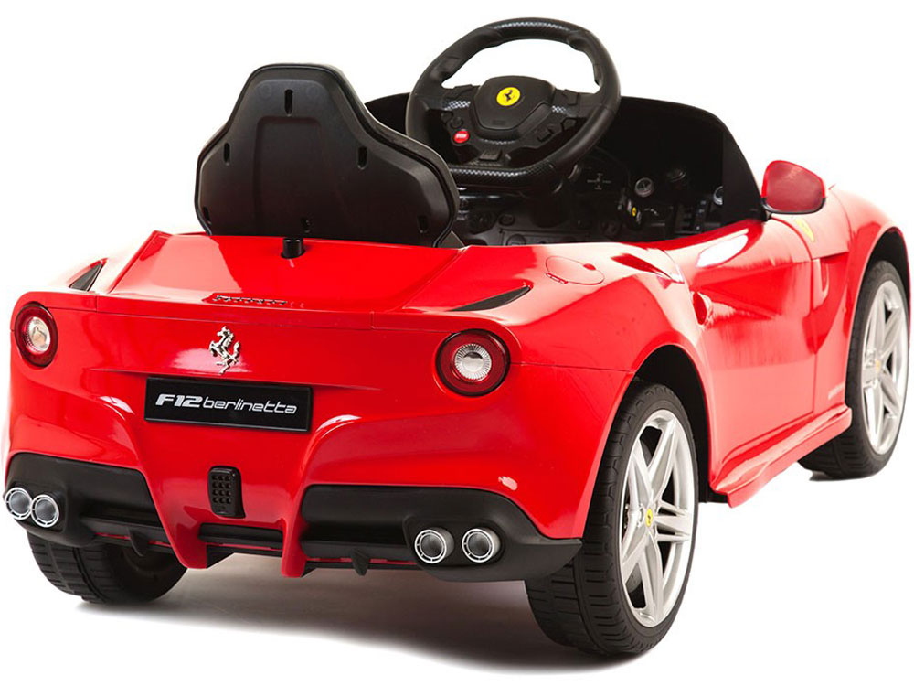rastar ferrari f12 12 volt kids ride on carremote controlled