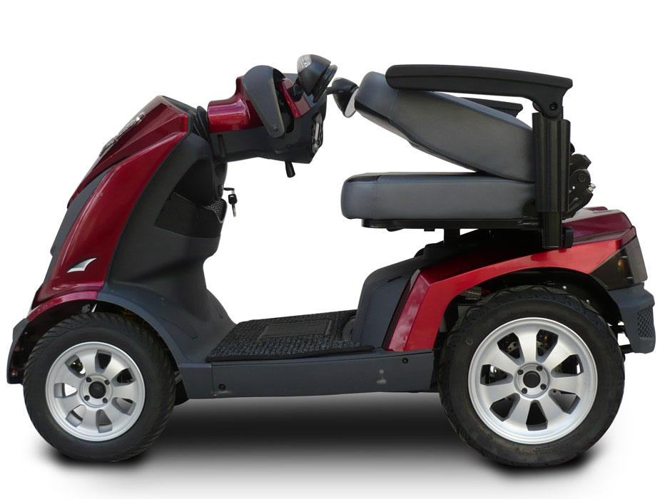 Ev rider royale 4 dual seat 4 wheel electric mobility for Mobility scooter motors electric