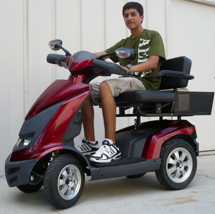 Ev rider royale 4 dual seat 4 wheel electric mobility for 3 wheel motor scooters for adults