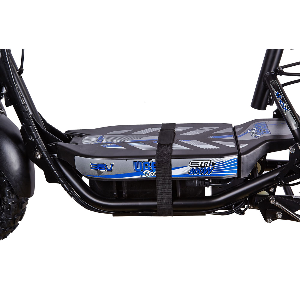 ... UberScoot Citi 800 Watt 36 Volt Folding Electric Scooter with Rear Hub  Motor by Evo Powerboards