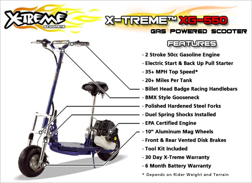 50cc Gas Scooter X