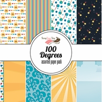 100 Degrees Assorted 12 x 12 Paper Pack